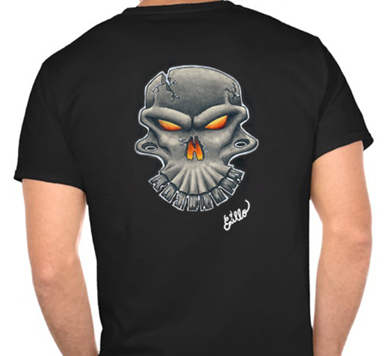 T-Shirt with Skull
