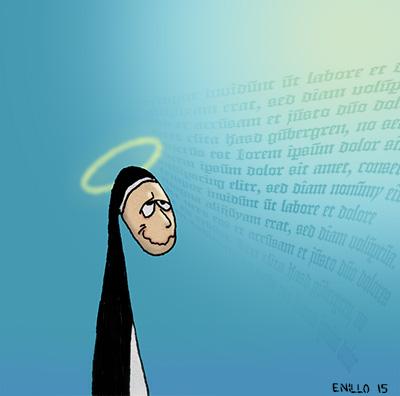 Nonne im himmlischen Kontakt