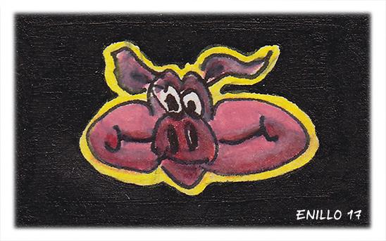 Schweinekopf Skizze