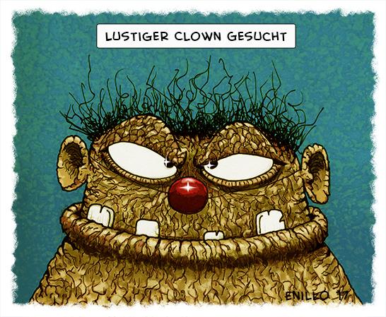 Lustiger Clown gesucht