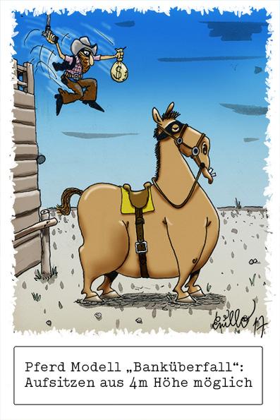 """Pferdemodell """"Bankueberfall"""""""