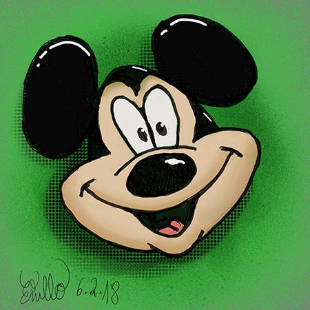 Skizze Mickey