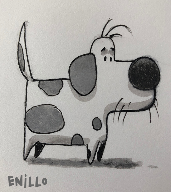 Enillo dog sketch