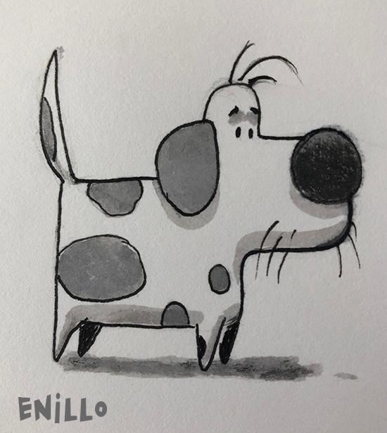Enillo dog sketch